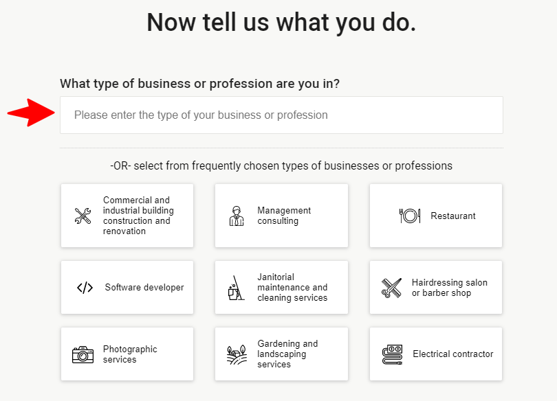 screenshot of business insurance quote step 4