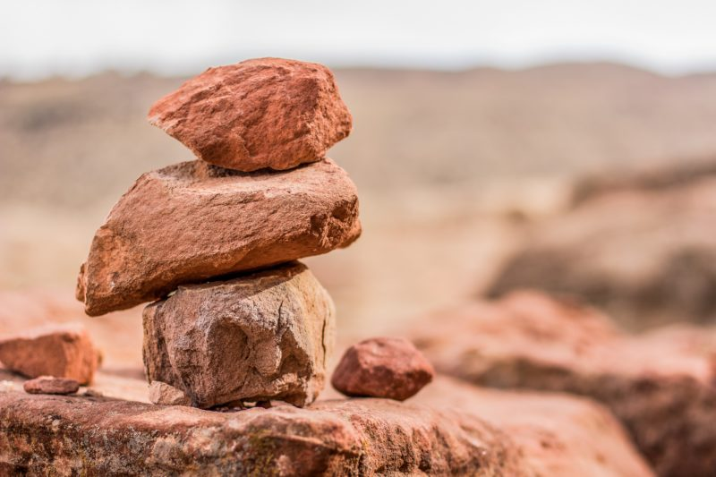 Rocks that represent insurance stability