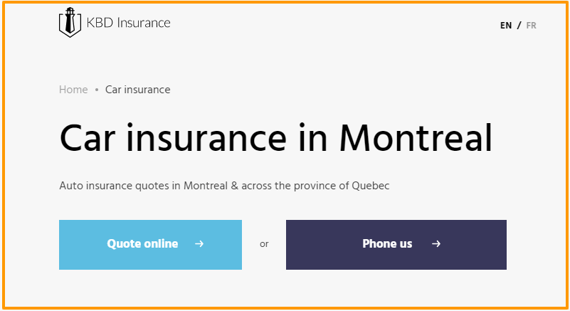 car insurance Montreal