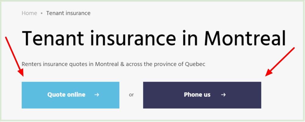 tenant insurance Montreal