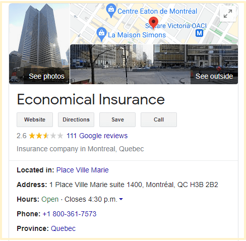 Economical Insurance Quebec